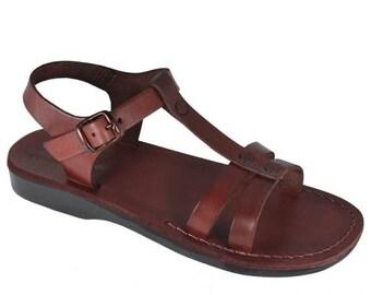 15% OFF New - Brown Oliver Leather Sandals For Men & Women - Handmade Sandals, Leather Flats, Leather Flip Flops, Unisex Sandals, Brown Sand