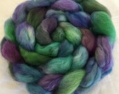 Organic spinning wool, Devon Wensleydale, hand dyed top, fibre, Handspinning, felt, fiber, English Wensleydale