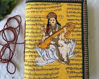Music Journal, Indian Art Journal, Dance Journal, Saraswati Hindu Journal, College student gift, Brother Gift, Boyfriend gift, Husband Gift