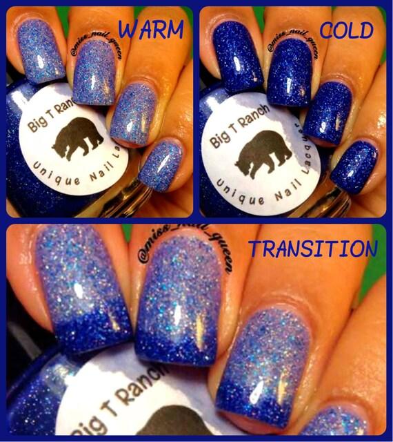FREE U.S. SHIPPING Color Changing Nail Polish Blue Mood