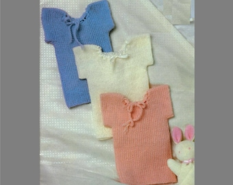 PDF Baby Knitting Pattern / Baby Vests in 2ply, 3ply, or 4ply yarn /New Born Gift / Ribbed Singlets/ PDF instant download /Post Free Pattern