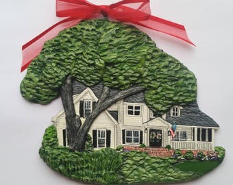 Custom listing for ScarletLetter- one Custom House Ornament