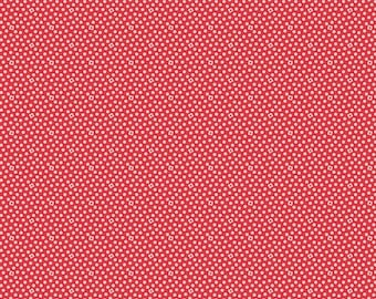 Midnight Blooms Red Scatter Dots Fabric by Shari Butler for Riley Blake Fabrics