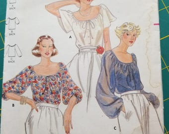 Peasant Top with Sleeve Options 8 Butterick 5885