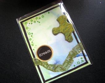 atc green dream original aceo