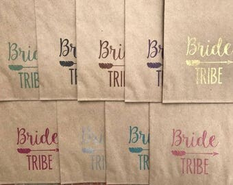 Bride Tribe Survival Kit Kraft Bags, Bridal Party Bride Squad Survival Bags, Bridesmaid Gift Bags, Kraft Bags