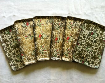 6 Decorative Floral Serving Trays from Barneche/Stephanie Barnes Studio