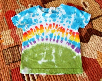 18m Baby Tie Dye T-Shirt - Rainbow Bliss - Ready to Ship