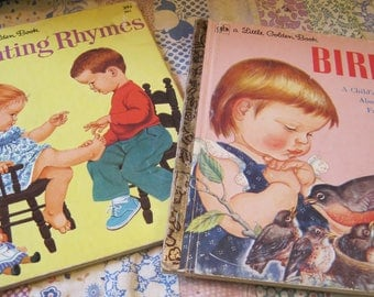 Two Sweet Vintage Golden Books Illustrated by Eloise Wilkin and Sharon Kane