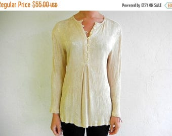 40% OFF CLEARANCE SALE Beige Floral Textured Shirt