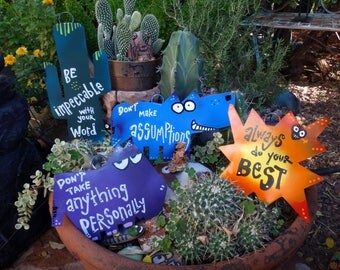 Four Agreements Metal Ornaments, Southwest Style