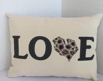"12 x 16"" LOVE Michigan Pillow"