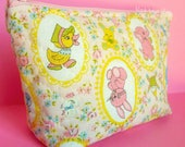Zipper Pouch Cosmetic Travel Bag Retro Toys Zipper Bag Makeup Bag Small Purse Cosmetic Case Japanese Fabric Vintage Look Plushies Toys