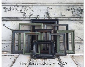 Black Picture Frames - Picture Frame Set - Wood Picture Frame - Rustic Picture Frame -  Picture Frames - Photo Frames - Gray Picture Frame