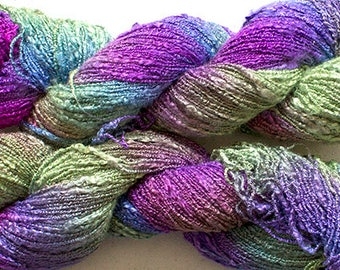 Jewel Twist, Hand-dyed Fine Rayon Boucle Yarn, 225 yds - Nepeta