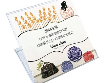 Mini 2018 Seasons Desk Calendar