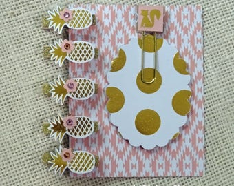 handmade paper embellishments and paper collection - for planner - for card  making - NO044