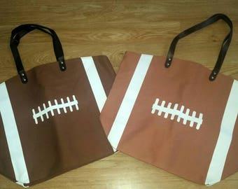 Football/ football laces/ football mom/ football bag/ football tote/ football fan/ football season/ football tote bag