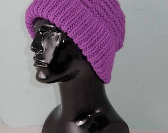 40% OFF SALE Instant Digital File pdf download knitting pattern -  Chunky Basket Stitch Beanie hat pdf download knitting pattern