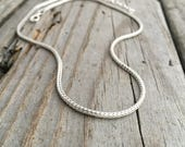 Sterling Silver Chain Sterling Silver Foxtail Chain 2mm Thick Adjustable Length Wild Prairie Silver Jewelry