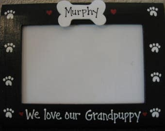 We love our Grandpuppy photo frame Granddog custom personalized pet photo picture frame