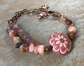 Pink Mandala bracelet