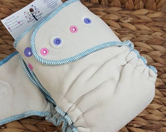 Playdate Nighty Night - One Size (11-35#) Bamboo/OBV NIGHTTIME Fitted Cloth Diaper