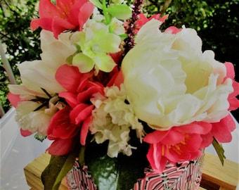 Secret Garden Jewelry Holder - Jewelry Hideaway Box - Pink White Black