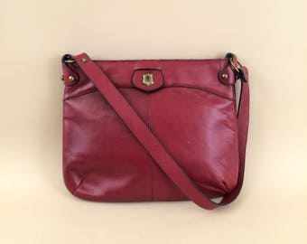 vintage ETIENNE AIGNER oxblood leather handmade purse