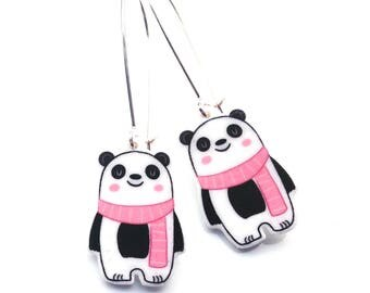 Handmade Illustrated Pandal - Dangle - Drop - Earrings