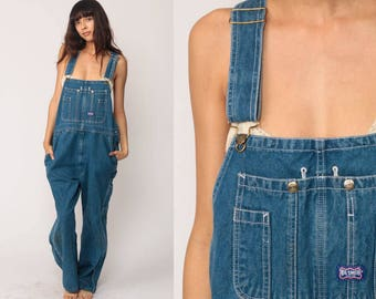 Bib Overalls Denim Overalls Pants Jeans 90s Denim Grunge Pants Wide Leg Baggy Blue Long Jean Dungarees Hipster Vintage Carpenter Extra Large