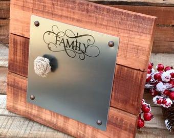 Farmhouse Decor - Wedding Gift - Picture Frame - Magnetic Message Board - Magnetic Memo Board - Desk Accessory - Rustic Memo Board