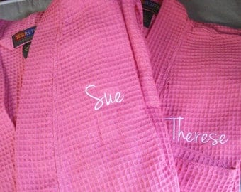 Wedding Robes - FREE SHIPPING - Robes - Waffle Weave Robes -