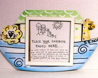Ark Picture Frame - Hand Painted Wooden Frame