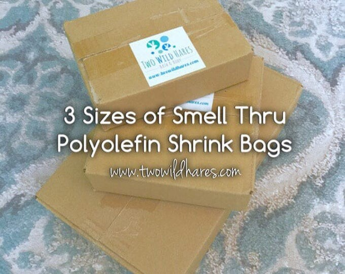 POLYOLEFIN Shrink Bags in 3 sizes! (Smell Thru Plastic) Small, Med & Large, 1500 bags total, 75g