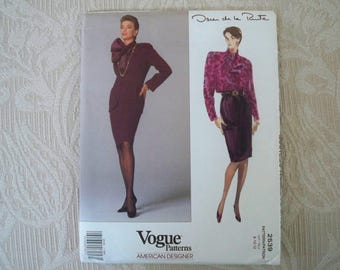 Vintage Sewing Pattern Vogue Pattern # 2539 Misses' Jacket, Skirt & Blouse Size 8 - 10 - 12