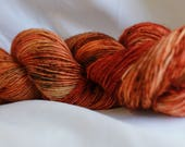 Hand dyed OOAK Speckled hand dyed super wash merino single sock (100 grams) 417 yds free Shipping