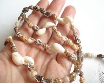 Shell Necklace Vintage Seashell Necklace Beach Necklace Cowrie Shell Necklace
