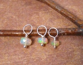 Tiny genuine Opal Charm - October Birthstone - Opal bead dangle - See ALL photos and read details please