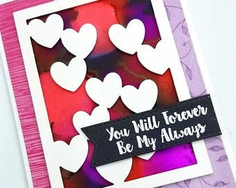 I Love You Card/Forever/Love/Always/Card for Him/Anniversary Card/Miss You/Card for Her/Valentines Day/Valentines Day Card/Be Mine Forever
