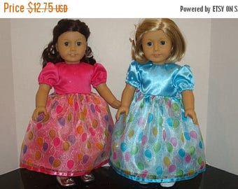 "ON SALE 18 inch Doll Clothes,Party Balloon Sparkle,Birthday Dress, Fancy Dress,Birthday,Made to fit 18"" Girl Dolls like American Girl,READY"
