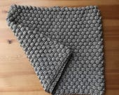 RESERVED FOR CF -- Bobble Cowl / Infinity Scarf, in Honeyed Gray