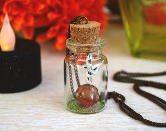 SALE- Poison Apple Necklace