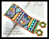 Peyote - Summer Fun - BP-PEY-167-2017-107 - Peyote PATTERN, beadweaving pattern, Peyote Bracelet Pattern, beaded bracelet, bracelet pattern