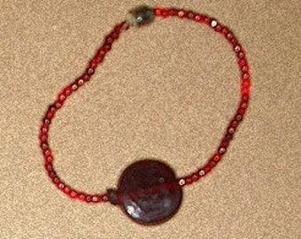 Cool Cranberry Necklace , Earring Bracelet