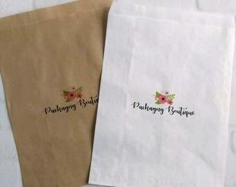 100 Flat Merchandise Bags