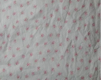 Simply shabby chic Bon Ami   Little Pink  Flowers on pink flat Full sheet