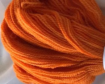 "325 yds Hand Dyed Merino 50g Sport Weight Yarn  - ""Mango"""