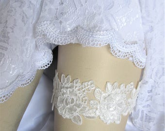 Ivory lace Bridal Garter, Wedding Garter,Bridal Accessories,Style #G70