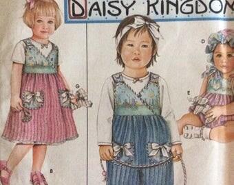 Simplicity 9168, Uncut Sewing Pattern, Daisy Kingdom, Babies size 7 - 24 lbs. Jumpsuit, Jumper, Romper, Bonnet, Stuffed Animal, 2000